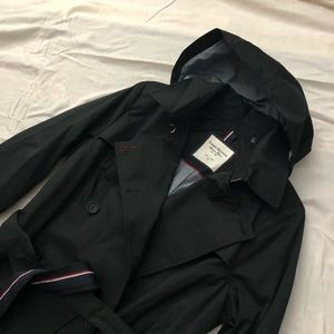 Hilfiger trench, double breasted.